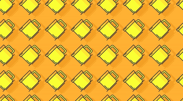 Drink seamless pattern background vector