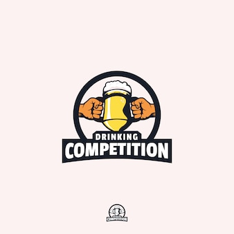 Drinking competition logo design