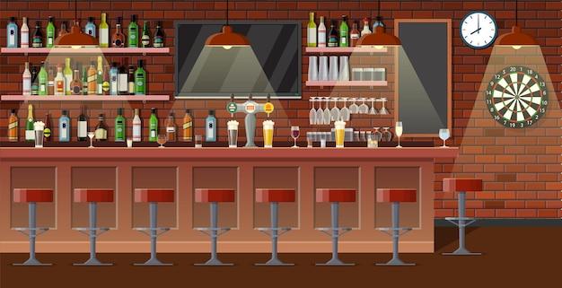 Drinking establishment. interior of pub, cafe or bar
