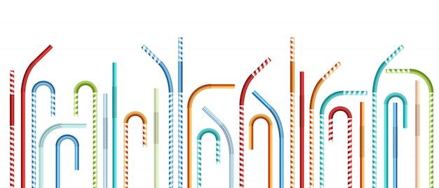 Drinking straws  illustration