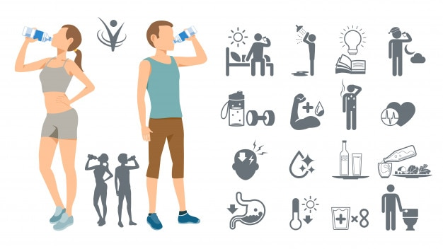 Drinking water to keep the body healthy
