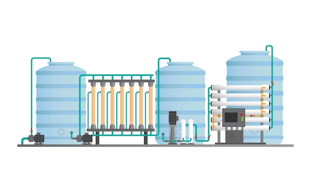 Drinking water plant, water treatment