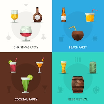 Drinks polygonal set
