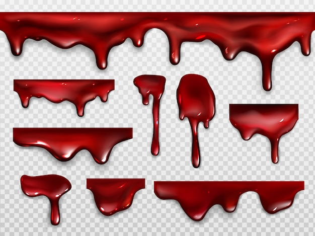 Dripping blood, red paint or ketchup