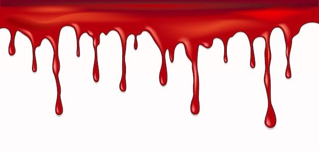 떨어지는 혈액 벡터 디자인