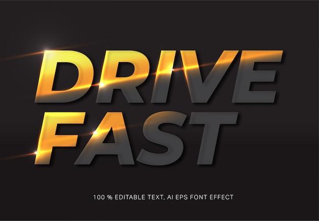 Drive fast текстовый эффект