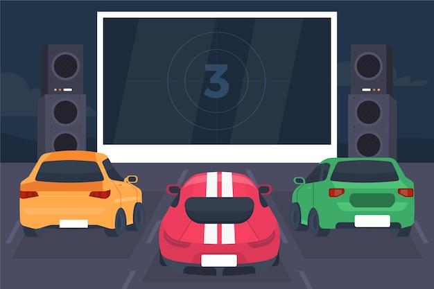 Концепция автомобильного кинотеатра