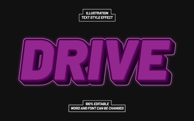 Drive text style effect
