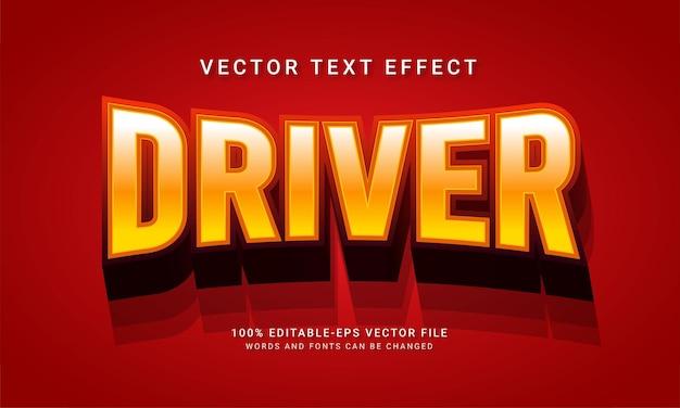 ドライバー編集可能なテキストスタイル効果をテーマにした輸送コンセプト