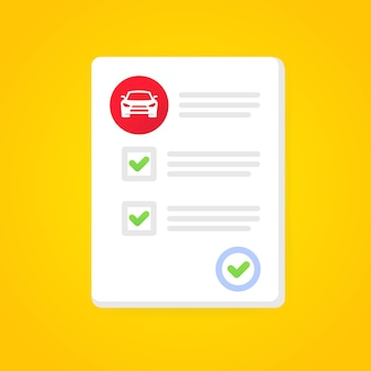 Driving exam paper banner. driving school examination. vector on isolated background. eps 10.