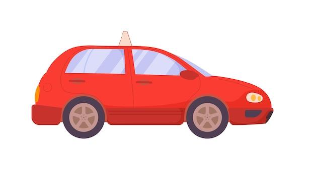 흰색 배경에 고립 된 운전 학교 훈련 차