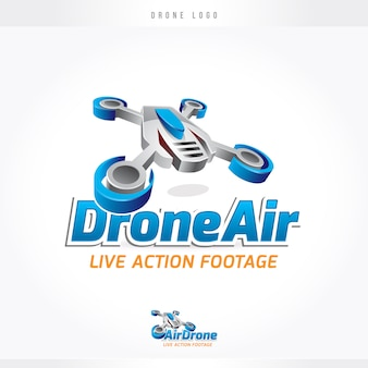 Drone air flight logo