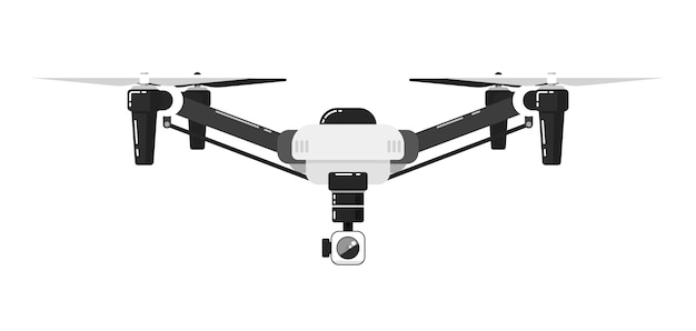 Drone aircraft isolated on white