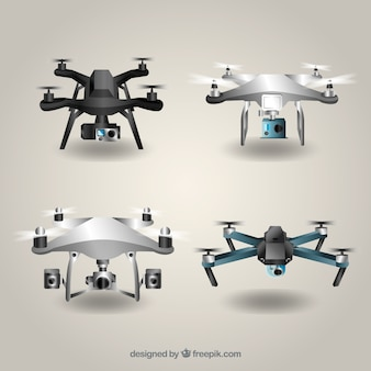 Drone collection with realistic style