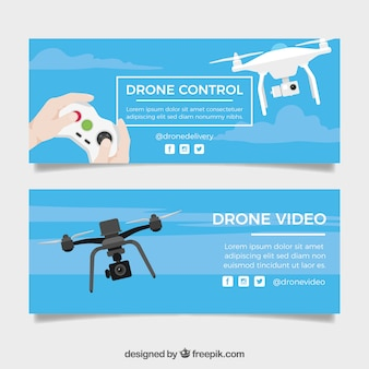Drone control banners