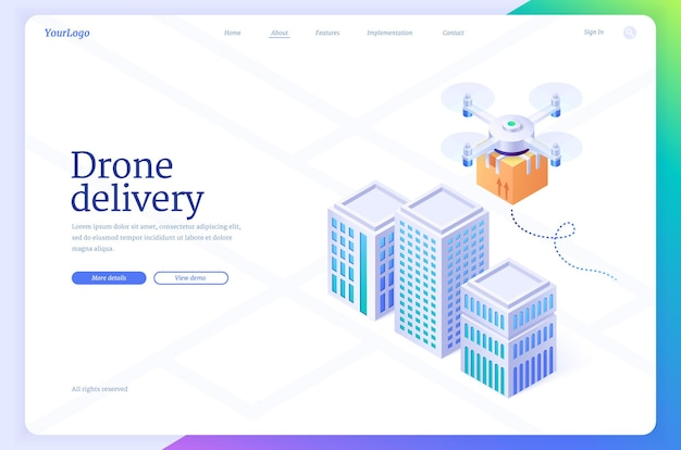 Drone delivery automated aerial shipping banner