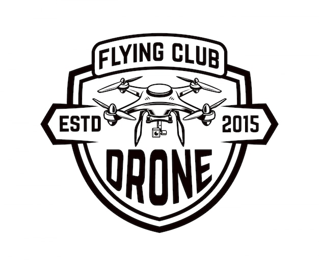 Drone icon  on white background.   element for logo, label, emblem, sign.  illustration