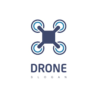 Drone logo aerial photography symbol