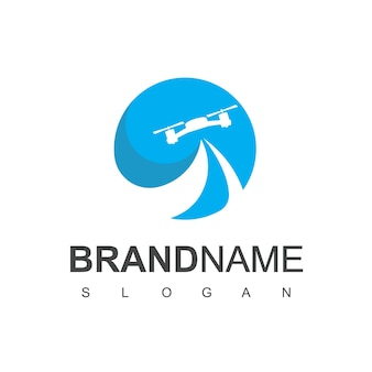 항공 사진 및 군사 상징을 위한 드론 로고 디자인
