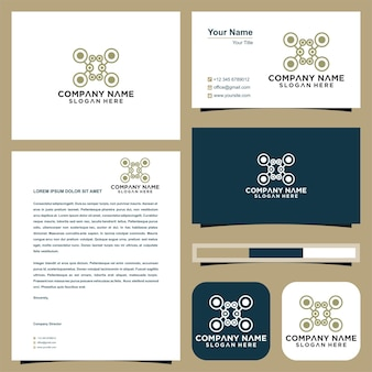 Drone logo design icon technology and business card