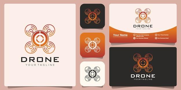 Drone logo design inspiration with business card design