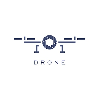 Drone logo design template