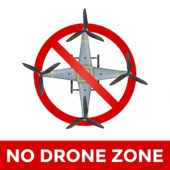 Drone prohibited sign illustration