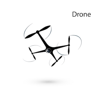 ドローン。分離されたquadrocopter
