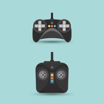 Drone or quadrocopter remote.