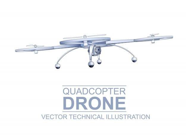 Drone technical illustration