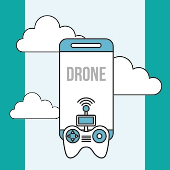 Drone technology contoller smartphone digital