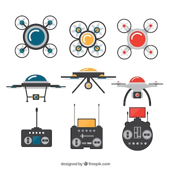 Drone variety with colorful style