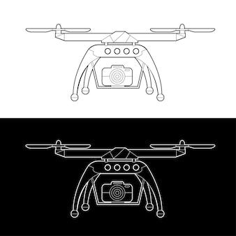 Набор иконок дронов. графика дроны black and white outline outline stroke illustrate