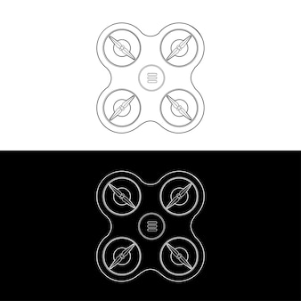 Drones icon set. graphic drones black and white outline outline stroke illustrate