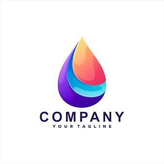Drop color gradient logo