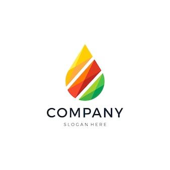 Drop color logo design vector