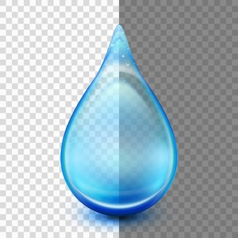 Drop isolated on transparent background.