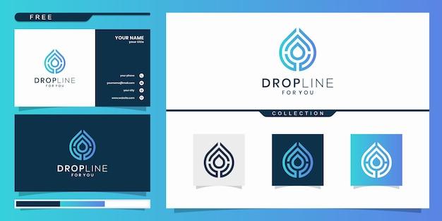 Drop line для вас вдохновение для дизайна логотипа. дизайн логотипа и визитная карточка