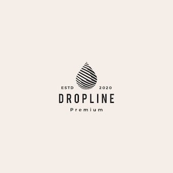 Drop line hipster старинный логотип значок иллюстрации