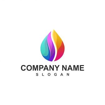 Drop logo colorful