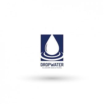 Drop logo template