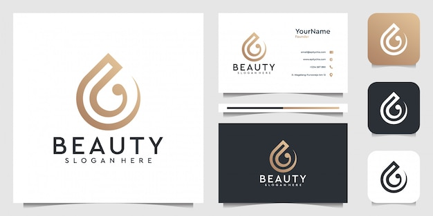 Drop    in modern style. good for brand, icon, advertising, business, company, line art, water, wave, and business card