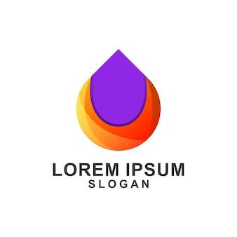 Drop oil gradient color logo design