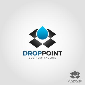 Шаблон логотипа drop point
