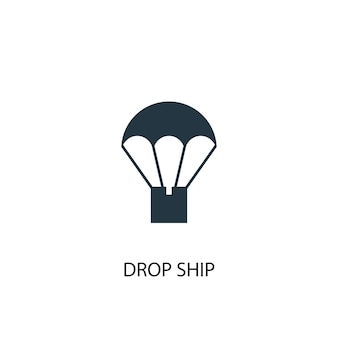 Drop ship icon. simple element illustration. drop ship concept symbol design. can be used for web and mobile.