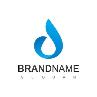 Drop water logo design vector