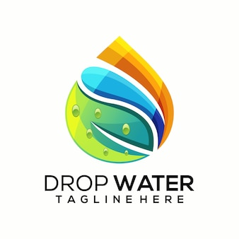 Drop water logo vector, template