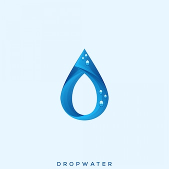 Удивительный логотип drop water premium
