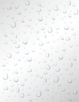Drop of water rain or spray