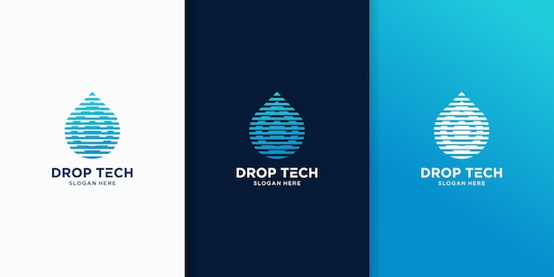 Droplets tech inspiration logo templates
